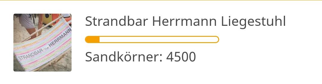 Strandbar Herrmann Liegestuhl - 4500 Sandkörner